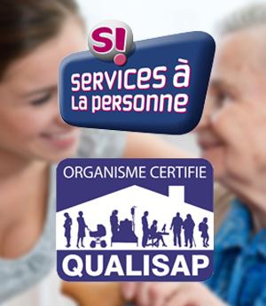 Aide et sérénité est un organisme agréé QUALISAP et SI Service à la personne